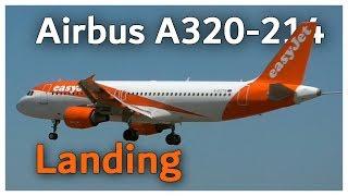 easyJet Airbus A320 Landing