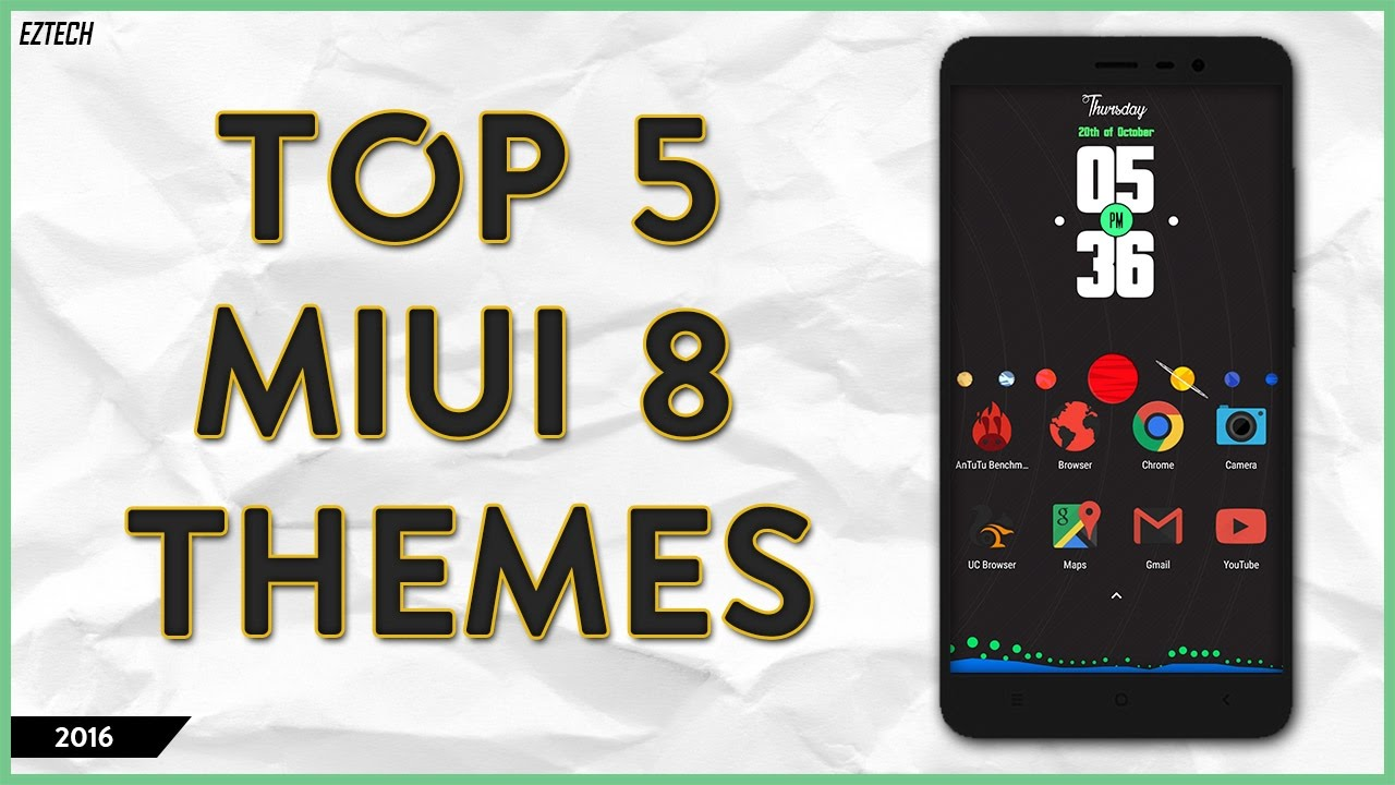 Gmail themes for mobile - Top 5 Miui 8 Themes October 2016