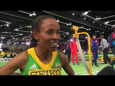 IAAF WIC Portland 2016 - Meseret DEFAR ETH 3000m Women Final SILVER