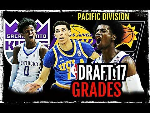 2017 NBA Draft Grades: Pacific Division: Lonzo Ball * Josh Jackson * De