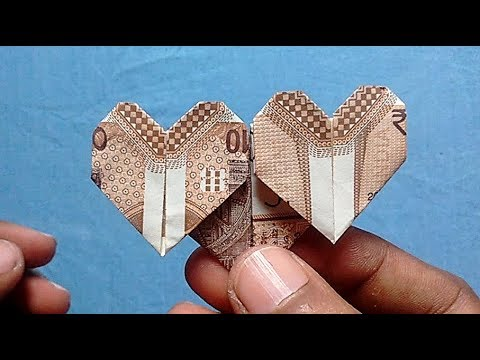 Triple Heart Made Of NEW 10 Rupees Note | SuryaOrigami