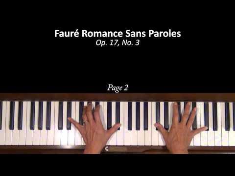 Fauré Romance sans Paroles Op. 17, No. 3 Piano Tutorial SLOW