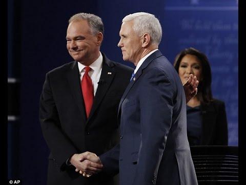 Explore topics   Elaine Quijano, Tim Kaine, Mike Pence, United States vice-presidential