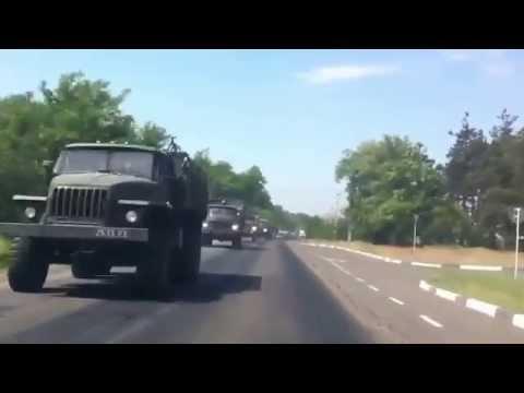 Lugansk (Kreminna). Military Tech On the Move. 20.05.2014