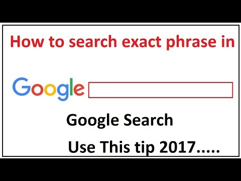 how to search for exact phrase