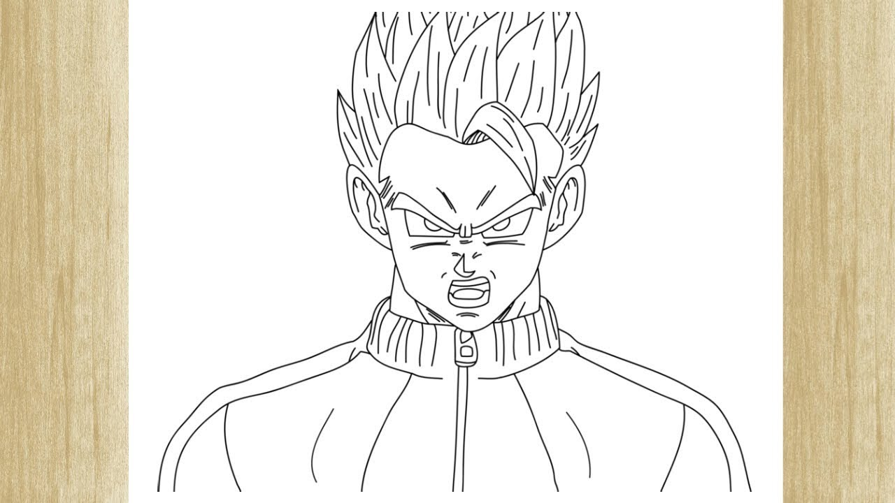 How to draw gohan naked