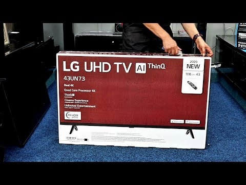 "LG 2020 43UN73006 43"" 4K TV Unboxing, Setup and 4K HDR Demo Videos"
