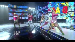 110918 hd   b1a4 chu chu chu beautiful target inkigayo comeback stage