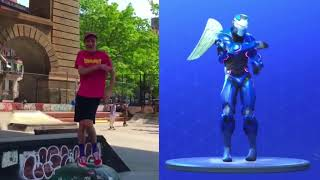 """New Leaked Fortnite Emote """"ELECTRO SWING"""" In Real Life and More Emotes In IRL"""