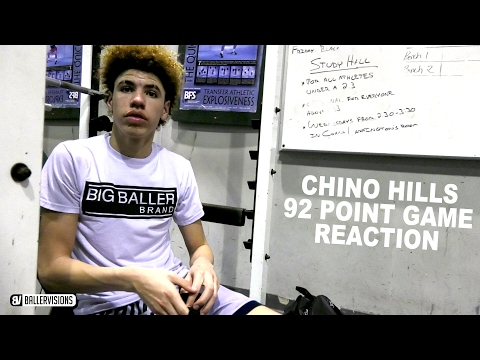 Chino Hills Locker Room After 92 Point Game From LaMelo Ball (FUNNY) | 92 Point Game AFTERMATH