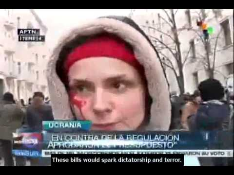 Ukraine: Hundreds gather in Kiev to protest against new laws