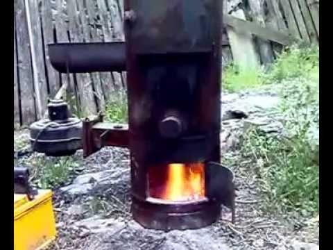 Самодельный пиролизный котел из газового баллона