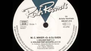 "M.C.Miker ""G"" & Deejay Sven - Holiday Rap (12"