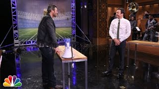 Random Object Football Toss with Blake Shelton