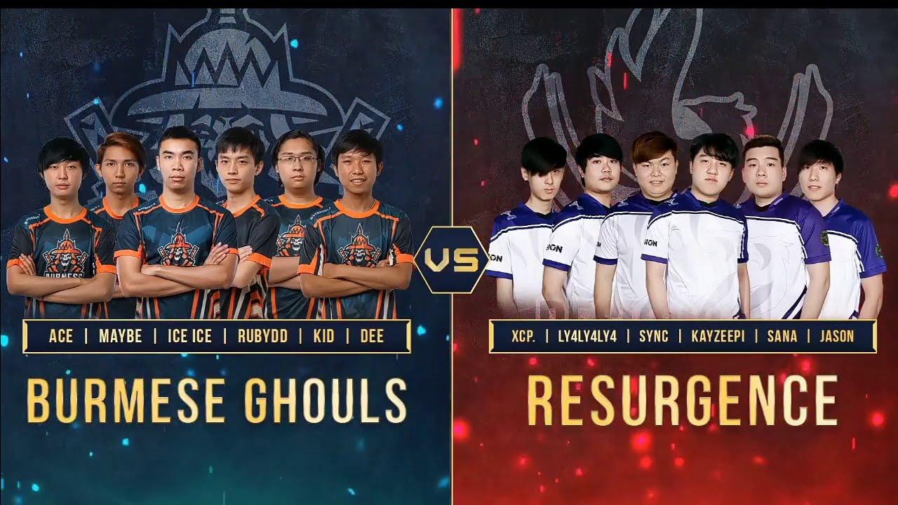 Burmese Ghouls Vs RSG MPLI Semi Final Game 2