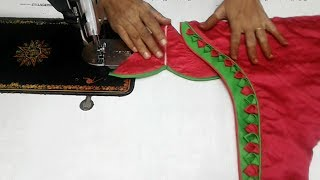 easy patch work blouse design cutting and stitching