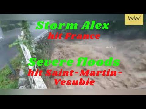 Storm Alex hit France: Severe floods hit Saint-Martin-Vesubie