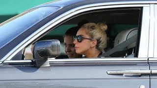 New Driver Lady Gaga Struggles To Get Her Rolls Royce Out Of Parking Lot