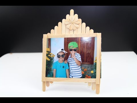 HOW TO CREATE A PICTURE FRAME WITH AN ICE CREAM STICK