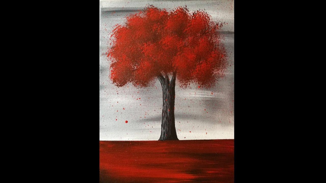 Peindre Un Arbre Peinture Acrylique Facile Youtube