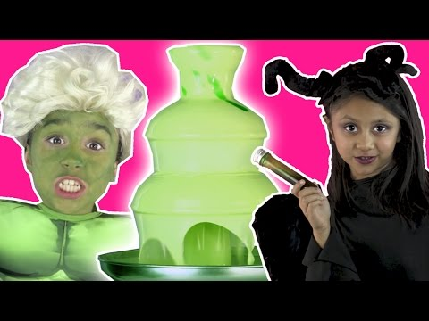 MALEFICENT TURNS ELSA INTO THE HULK | Chocolate Fountain | Magic Prank | Princesses In Real Life