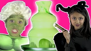 ELSA TURNS INTO HULK Disney Princesses In Real Life Maleficent Chocolate Fountain Magic Prank Frozen