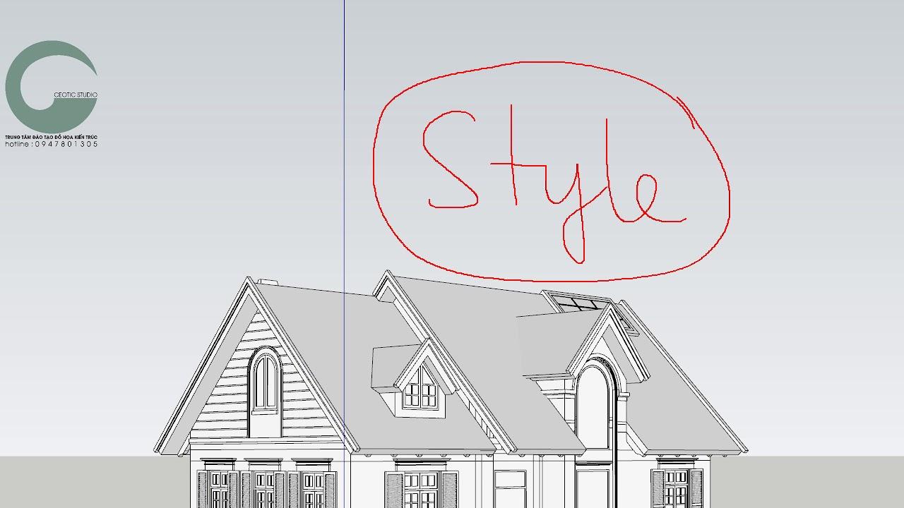 Khắc phục lỗi giật hình khi vẽ Sketchup.