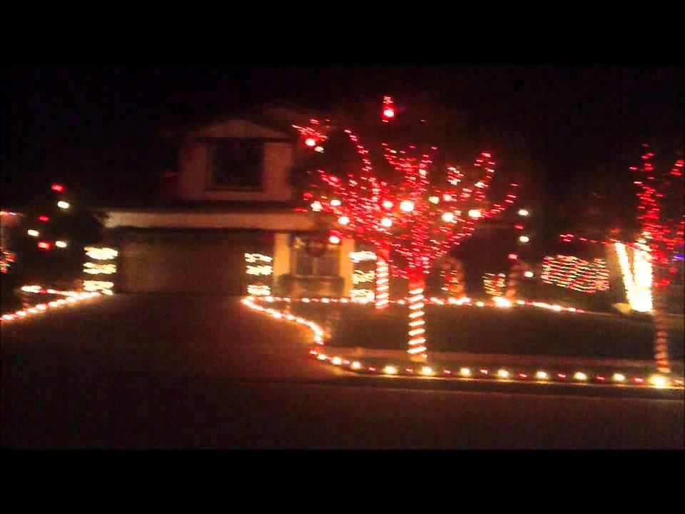 Christmas Light Show Yucaipa, CA - YouTube