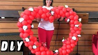Como fazer Coração de Balão e Flores