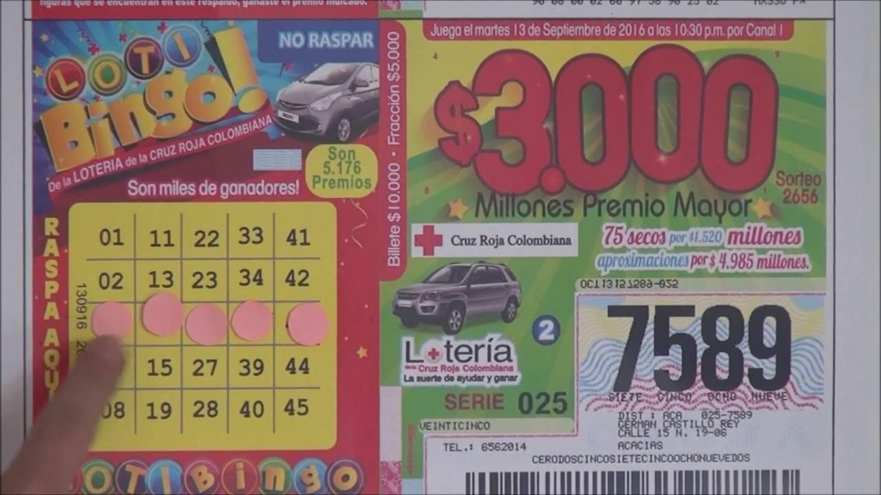 Resultado lotería cruz roja