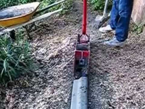 Concrete Curb Machine Curb Making Youtube