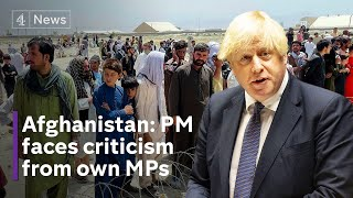 Afghanistan: Johnson faces criticism from Tory MPs after Taliban takeover