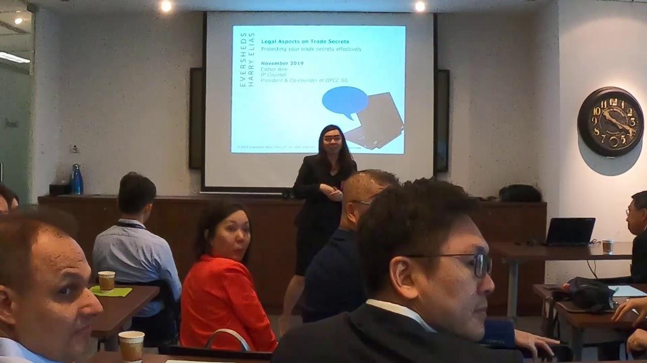 "Seminar: ""Practical Solutions to Trade Secret Enforcement Challenges"" (8 Nov 2019)"
