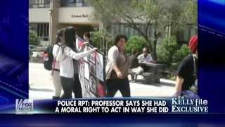 Feminist Bigfoot caught on video assaulting pro-life females, stealing & destroying sign