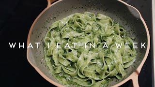 WHAT I EAT IN A WEEK VEGAN | Pesto Pasta, Smash Potatoes, Chipotle Jackfruit #019