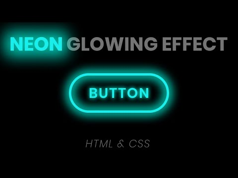 CSS Neon Button Effects On Hover | Html CSS Glowing Buttons