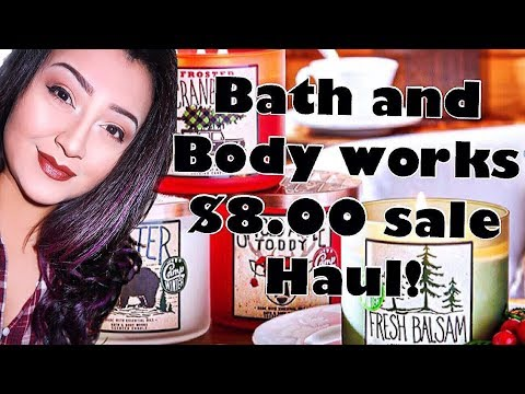 ❄️BATH AND BODY WORKS HAUL 2017/SURPRISE GIVEAWAY!❄️║Vlogcember Day 7║ ANNUAL $8.00 SALE!