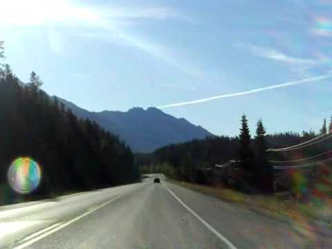 Yoho National Park - Trans Canada Highway 1 from Golden, BC into Alberta