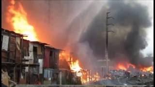 Fogo em favela na Penha Zona Leste São Paulo 400 barracos destruidos
