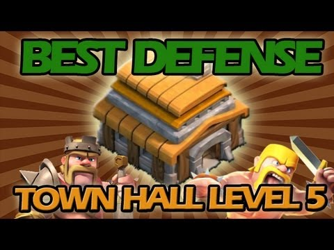 BEST Town Hall Level 5 Defense Strategy for Clash of Clans + Low Level Raiding Strategy!