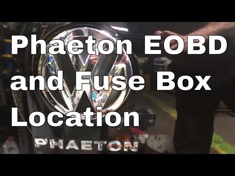 vw phaeton fuse diagram vw phaeton eobd obd and in car fuse box location v10 2004  vw phaeton eobd obd and in car fuse box