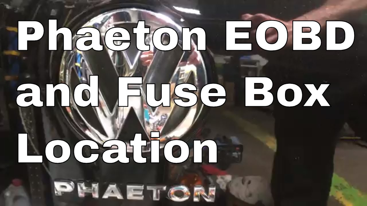 vw phaeton eobd obd and in car fuse box location v10 2004 volkswagen [ 1280 x 720 Pixel ]