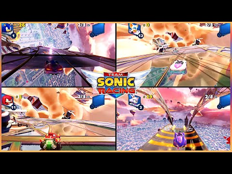 Team Sonic Racing PC Expert Grand Prix4 Sky Road Sonic vs Rouge vs Knuckles vs Blaze 4P #4 |