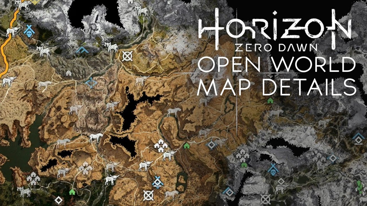Horizon Zero Dawn Huge Open World Map Size All Locations Map