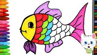 Cara menggambar ikan berwarna-warni dengan MiMi - Cara Menggambar dan Mewarnai TV Anak