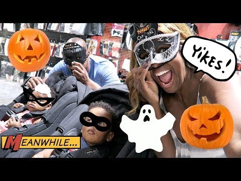 HALLOWEEN COSTUME SHOPPING FOR THE TWINS! 👻👻👻👻