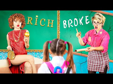 Богатая училка vs бедная училка / 25 смешных ситуаций в колледже