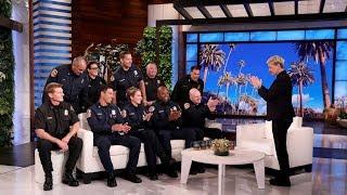 Ellen Welcomes Ten California Firefighters