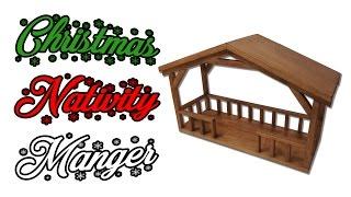 How to Make a Christmas Nativity Manger