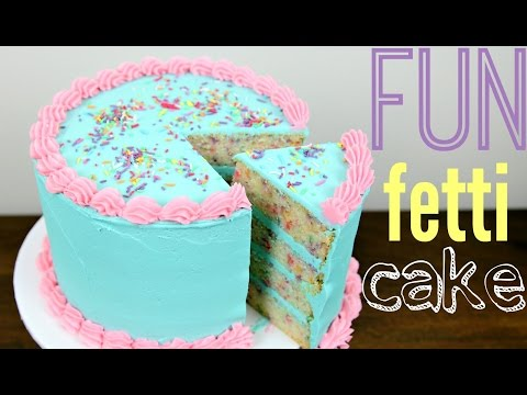 Funfetti Birthday Cake Decorating - CAKE STYLE